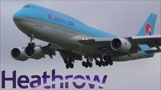 Afternoon Arrivals at London Heathrow Airport, LHR | 04/04/17 [4K]