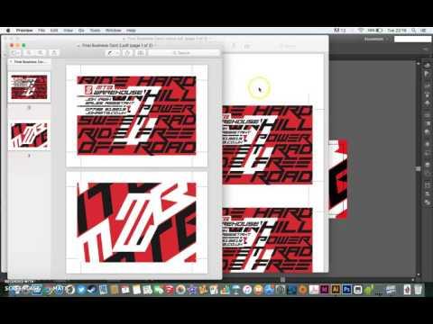 Print a business card tutorial thumbnail