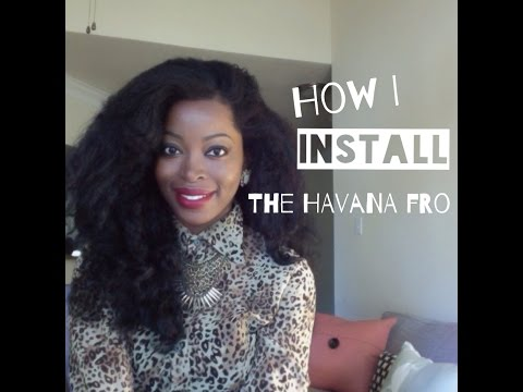 HOW I INSTALL THE HAVANA FRO| Long Natural hair wig|  BANTU KNOT OUT: Msnaturallymary
