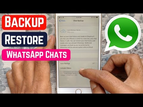 Backup & Restore WhatsApp Chats/Messages On IPhone
