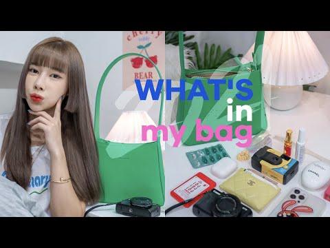 🍒 what 's in my bag 2021 💞 พกอะไรในกระเป๋าปัจจุบัน และกระเป๋าแบรนด์ไทยคับ  🥬 | ndmikkiholic ♡