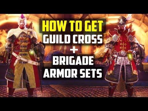 HOW TO GET THE HIDDEN ARMOR SETS! Guild Cross and Brigade Armor Set Monster Hunter World