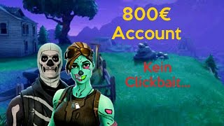 I show my Fortnite account (value approx. 800€)| Fortnite| German