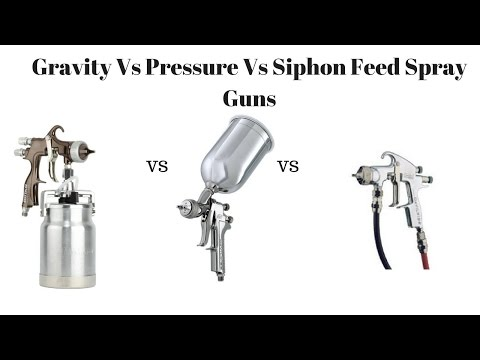 Spray Guns - Gravity vs Siphon vs Pressure Spray Guns