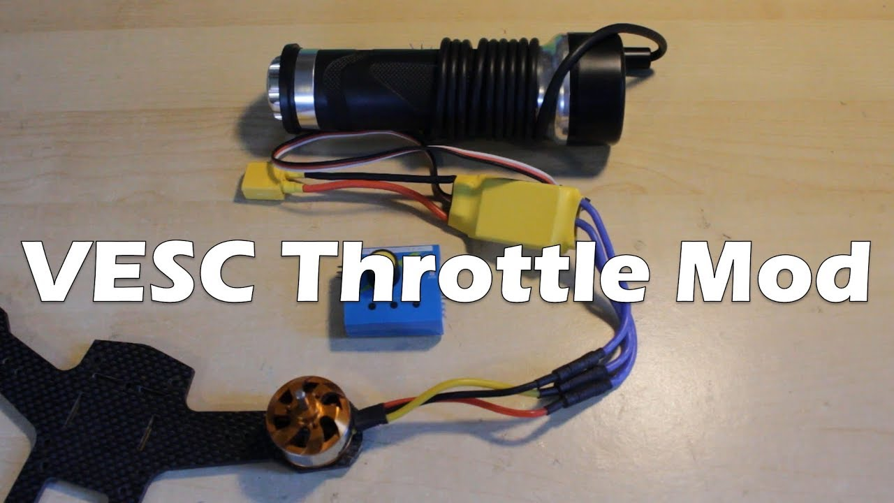 How To Connect Electric Throttle Esc Or Vesc Youtube Brushless Wiring Diagram