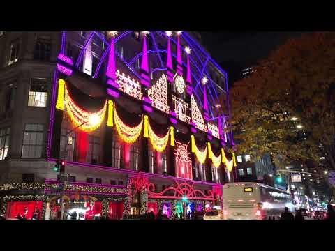 Saks Fifth Avenue Light Show 2020 Schedule New York Christmas light show 2018 Saks 5th Avenue   YouTube