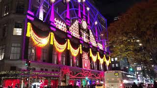 New York Christmas light show 2018 Saks 5th Avenue