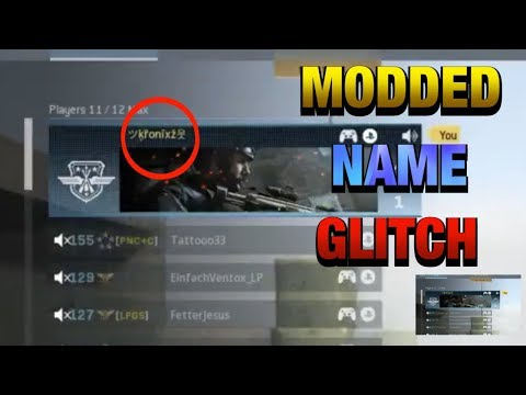 Modern Warfare Glitches: Modded Name Glitch! Get Special Characters And Font In Your Name! MW GLITCH