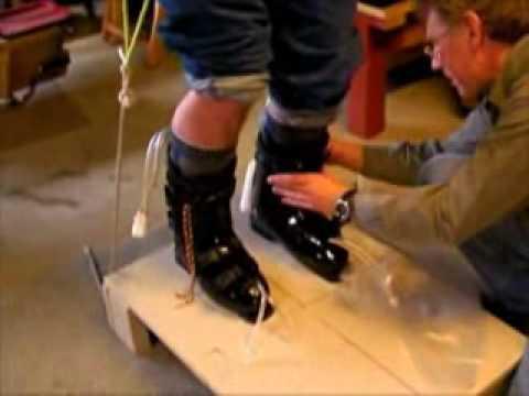 Foam injected ski boots