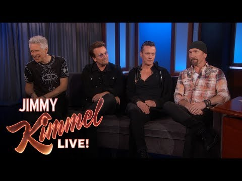Jimmy Kimmel Listened to U2 from a Parking Lot in College