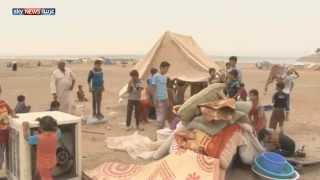 العواصف الرملية تهدد مخيم الحبانية