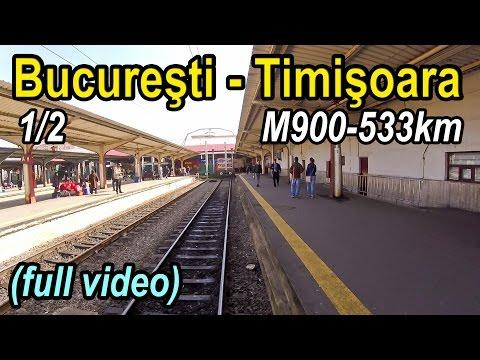 Bucuresti-Timisoara 1/2 full rearview-Trainride-Zugfahrt
