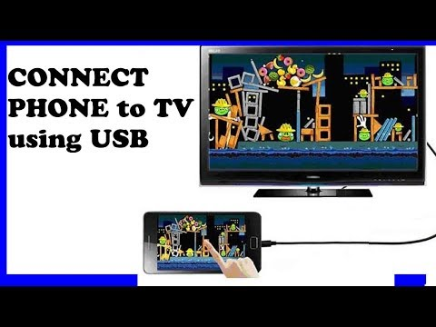 Connect your phone to TV with USB Cable