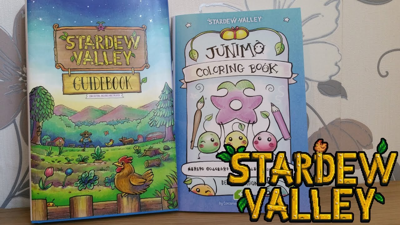 Stardew Valley Fangamer Books Guidebook Junimo Colouring Book