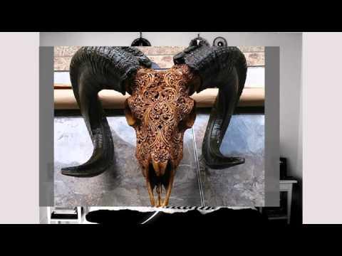 Carved Animal Skulls As Home Decor