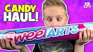 World's Largest Sour Gummy Candy + 🍭 Candy Store Shopping Haul | KIDCITY