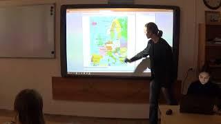 """Фрагмент урока по географии """"Страны Европы"""""""