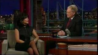 Julie Chen on Letterman