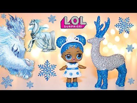 Christmas LOL Dolls Repaint. GLITTER Custom LOL Doll DIY.