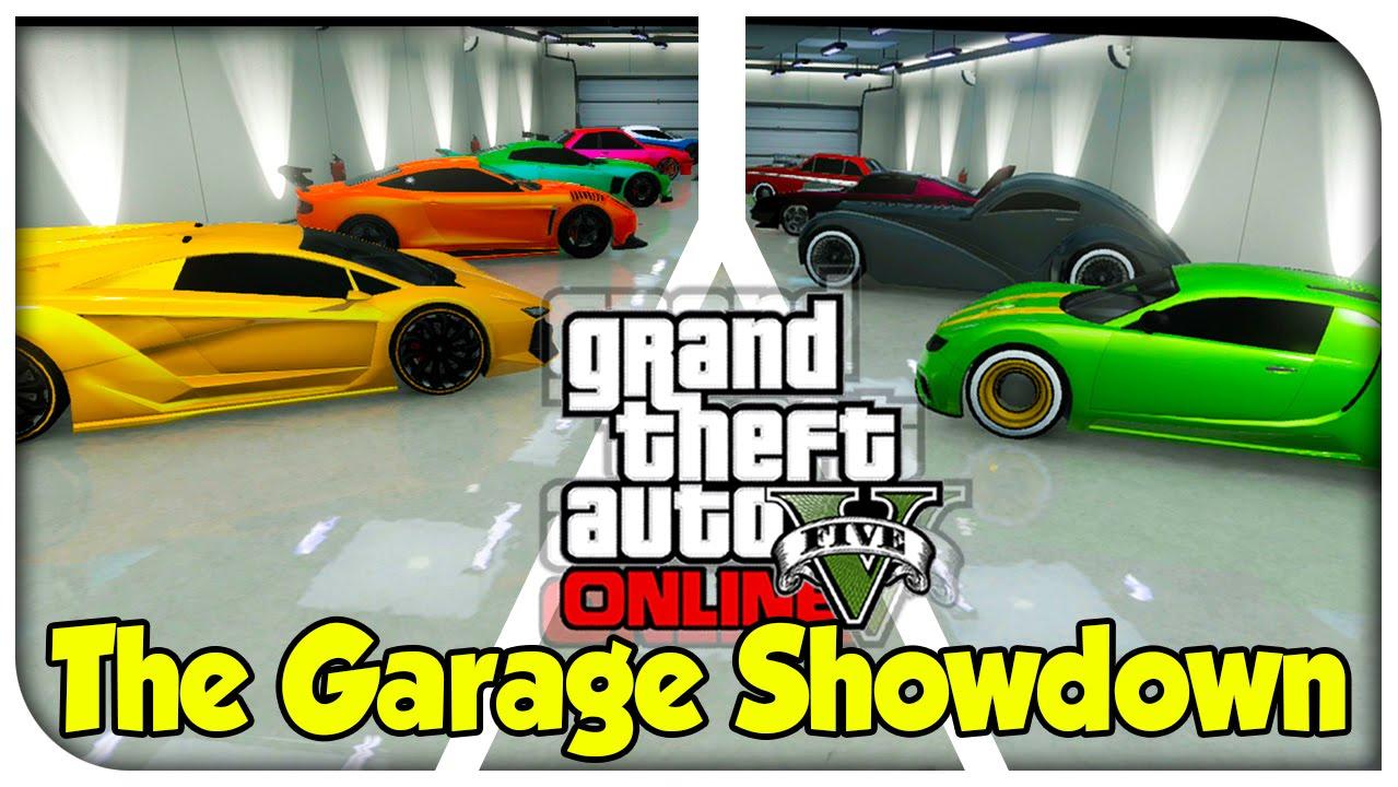 Gta 5 online the garage showdown ep 2 competitive for Garajes gta v online