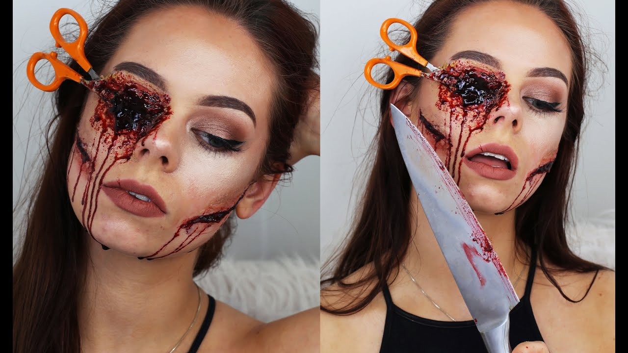 maquillage halloween karolina