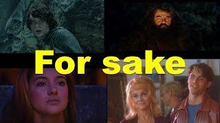 Английские фразы: For sake (примеры из фильмов и сериалов)