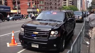 NYPD & United States Secret Service Escorting A Motorcade On 2nd Ave For The U. N. General Assembly