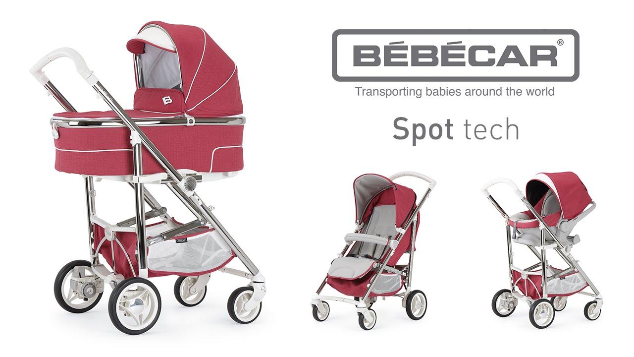 Bebecar Spot Tech Travel System Bundle Blue Shadow