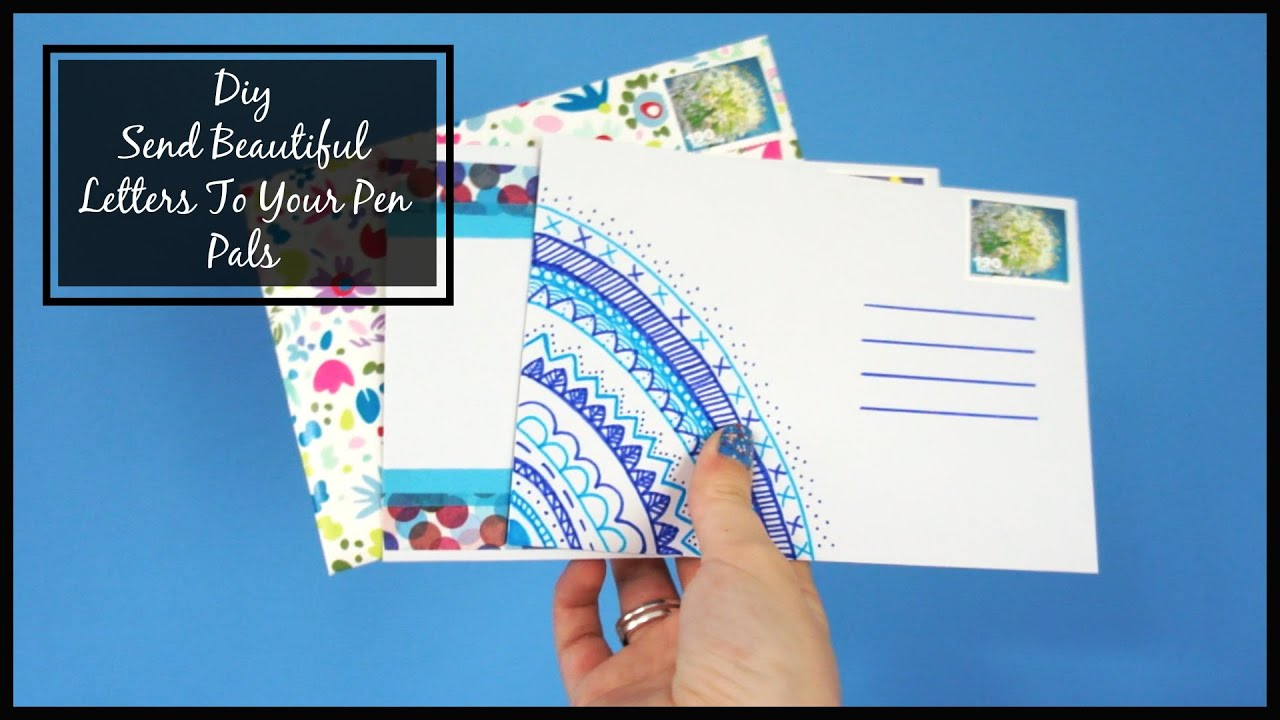 Diy  Send A Beautiful LetterEnvelope To Your Pen Pal  Cara Giulia