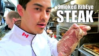 Smoked Ribeye Steak at the Chop SteakHouse- BenjiManTV