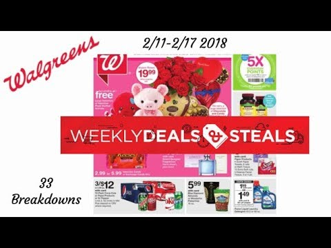 2/11-2/17 2018 Walgreens Breakdowns with coupons