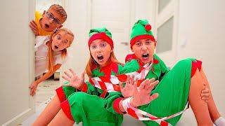 Діти спіймали шкідливих Ельфів! Катя і Зростання знайшли іграшки на Новий РІК! Elf-on-the-shelf
