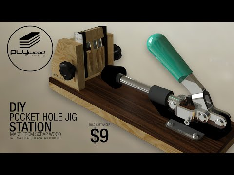 DIY pocket hole jig system - made from scrap wood