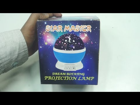 Star Master Dream Color Changing Rotating Projection Lamp
