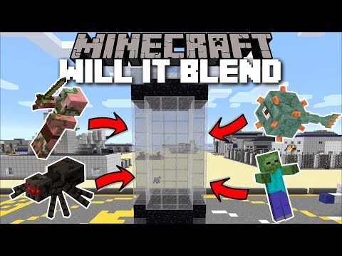 Minecraft WILL IT BLEND MOD / BLENDING MOBS AND SEEING WHAT THEY GIVE US!! Minecraft