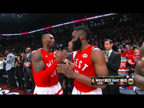 98b53980d73 Kobe Bryant Exits Final All-Star Game - YouTube