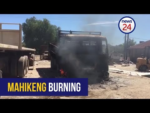 WATCH: Buildings torched and looted in Mahikeng
