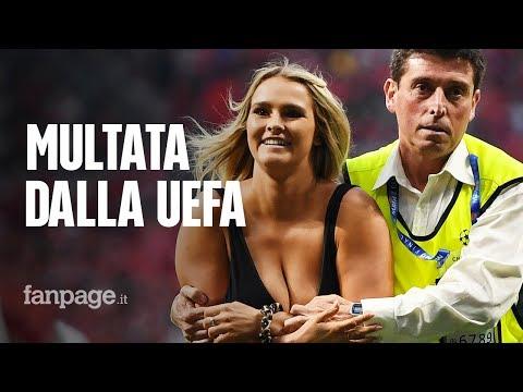 Kinsey Wolanski, multa per l'invasione di campo in Champions: ma ha guadagnato 3 milioni di euro
