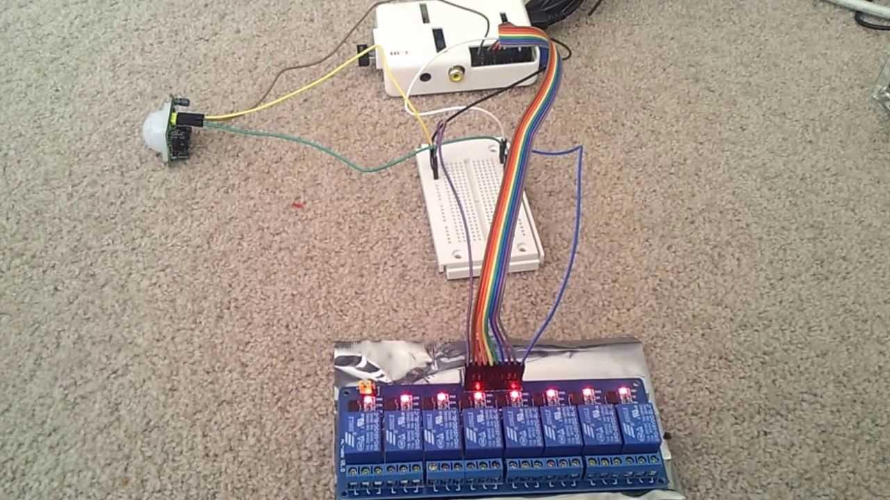 Raspberry Pi Motion Sensor Pir 8 Channel Relay Youtube