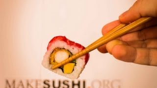 Pink Salmon Sushi Roll - Japanese Food Recipe thumbnail