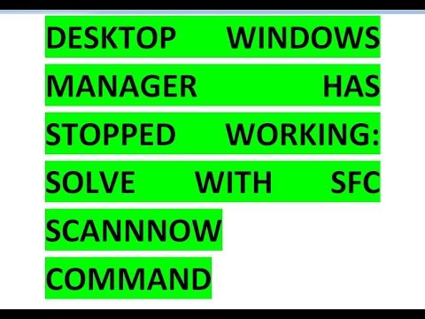 Desktop Windows Manager Has Stopped Working PROBLEM SOLVE