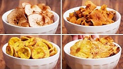 Fruit Chips | Baked Fruit & Veggie Chips 4 Ways | Quick and Easy Recipes by So Yummy