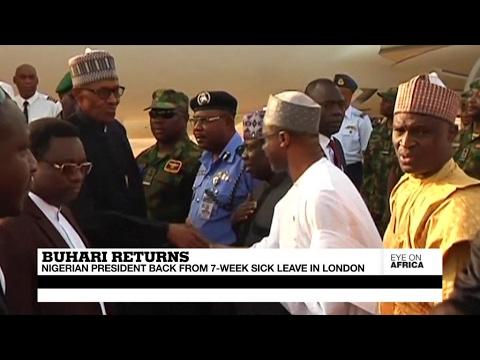 President Buhari returns to Nigeria after 7-week sick leave in London