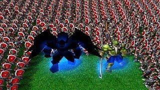 ЖEСТЬ! Двое против Восьмерых в Warcraft 3