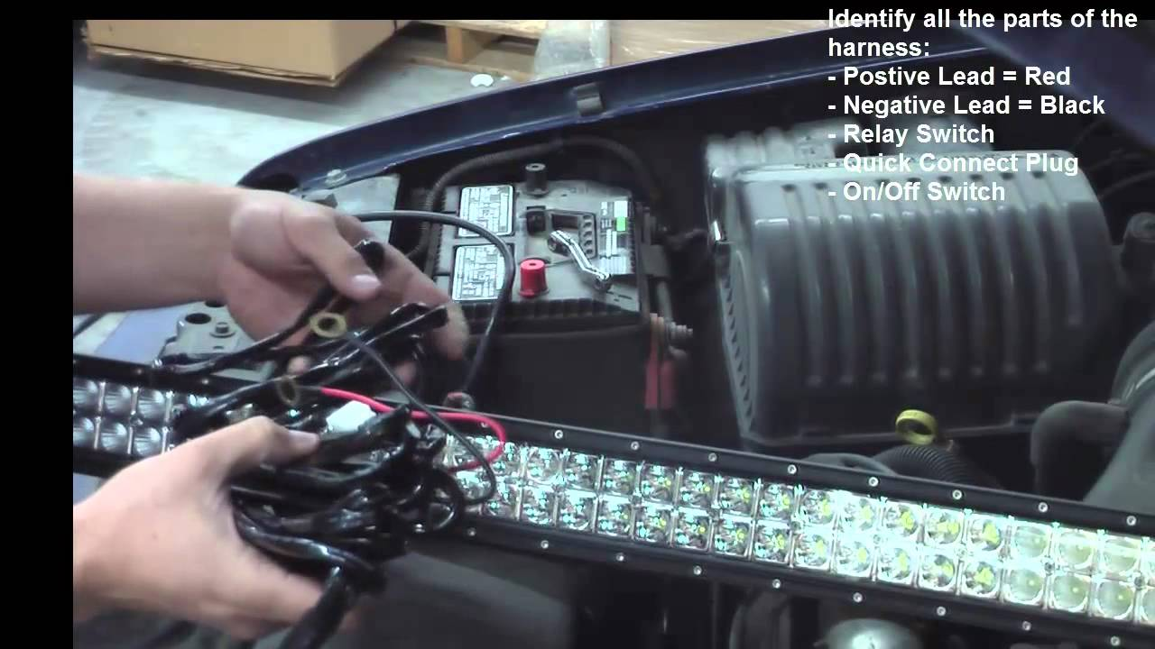 small resolution of led light bar installation using dakota series light bar wiring harness
