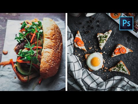 [ Color Effect ] HOW TO EDIT DARK FOOD PHOTOGRAPHY IN PHOTOSHOP