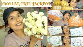 HUGE DOLLAR TREE FALL DECOR HAUL   HOME FINDS MUST SEE!!!