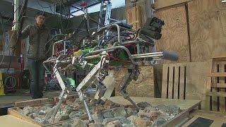 Робот на четырех ногах