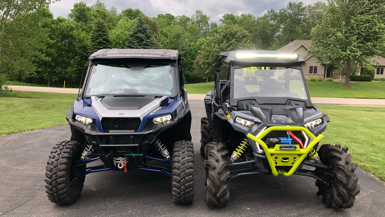 General XP ride command vs General deluxe vs Rzr highlifter 1000 drag races!