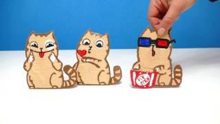 КОТЫ ВКОНТАКТЕ РИСУЮ 3D РУЧКОЙ   3D PEN CATS VK DIY